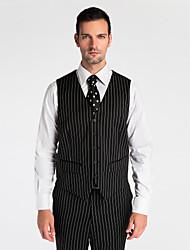 Black 100% Wool Tailored Fit Vest