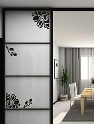 Wall Stickers Wall Decals, Cabinet Flower PVC Wall Stickers