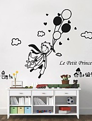 Cartoon People Fantasy Wall Stickers Plane Wall Stickers Decorative Wall Stickers Material Washable Removable Home Decoration Wall Decal