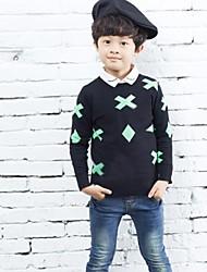 Boy's Fashion And Personality Pattern Knitting Sweater