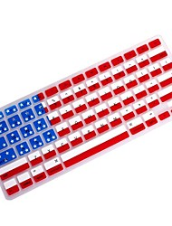 "Coosbo® USA Flag Silicone Keyboard Cover Skin for 11.6"",13.3"",15.4"",17"" Macbook Air Pro/Retina"