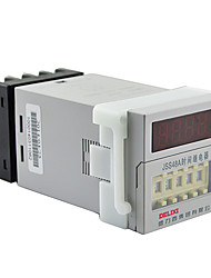 Digital Time Relay 0.01S-99H99M 1.5A AC220V DELIXI ELECTRIC JSS48A