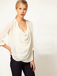 t.n.l моды сплошной цвет случайным блузки женской