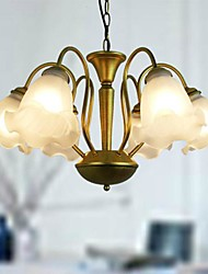 Chandeliers 6 Lights European Simple Modern 220V