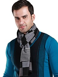 Men Cotton/Silk Scarf , Casual