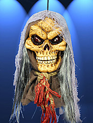 Halloween Haunted House Decoration Voice-controlled Ghost Head