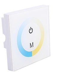 Glass 8A 2-Channel Touch Panel Dimmer Controller for Warm White to Cool White LED Changing  (DC12-24V)