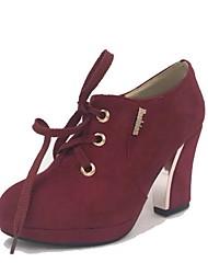 damesschoenen ronde neus dikke hak enkellaarsjes meer kleuren beschikbaar