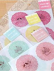 Cute Round Lace Pattern Sticker(Random Colors)