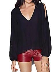 manicotto aperto irregolare camicia v-collo schiena fessura di zhulanchao®women