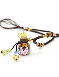 Necklace Lockets Necklaces Jewelry Party / Daily / Casual Fashion Alloy / Glass Coffee / Gray 1pc Gift
