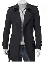 Men's Fashion Han Edition Double Breasted Coat