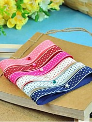 3/8 Inch Summer Sky  Pattern Rib Ribbon Printing Ribbon- 25 Yards Per Roll (More Colors)