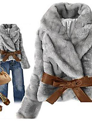 Women's  Rabbit Fur Joker Expensive  Gas Fashion Ladies Short Coat
