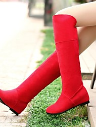 Women's Shoes Round Toe Low Heel Knee-high Boots More Colors Available