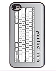 Personalized Case Keyboard Design Metal Case for iPhone 4/4S