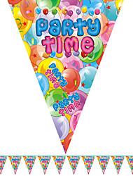 tempo di festa multicolore bandiera felice di compleanno accessorio bandiera del partito