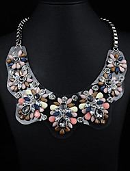 JQ Jewelry Women's Acrylic Board Gemstone Necklace