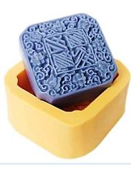 auspiciousness luna Torta fondente al cioccolato resina muffa della caramella del silicone, l7cm * w7cm * h3.2cm