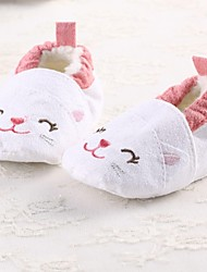 schoenen meisje ronde neus platte hak katoen loafers met gore en slip-on schoenen