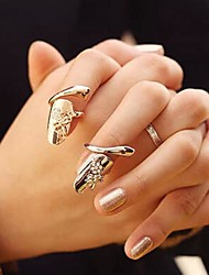 Midi Rings Gemstone & Crystal Simulated Diamond Alloy Fashion Gold Silver Jewelry Party 1set
