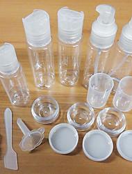 12 in 1 Umwelt Sauberkeit transparenten Kunststoff-Flasche Reise-Set