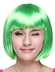 Sweet Girl Bob Cut Green Synthetic Fiber Women's Halloween Party Wig