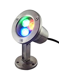 3W 3 LEDs IP68 Waterproof Outdoor RGB LED Underwater Light (AC12V)