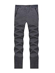 Men's Casual Solid Color Straight Pants