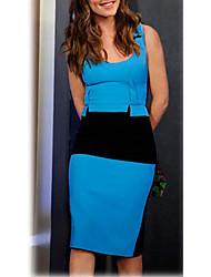 VICONE Women's Short Sleeve Round Collar Badycon Slim Dresses