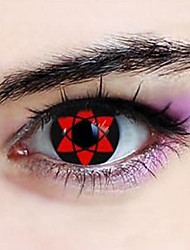 Naruto Sasuke Uchiha Hexagram Sharingan Cosplay Contact Lenses(1 Pair)