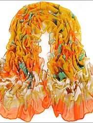 Yellow  Bali Yarn Scarf Cotton Cape Spring And Autumn Long Design Autumn And Winter Women's Scarf