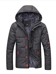 bonito moletom com capuz grosso casaco acolchoado dos homens casual