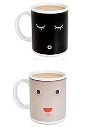 утро Кружка керамическая чашка кофе Smilling лицо изменение цвета чашка