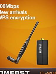 mini-antenne de l'adaptateur usb wifi sans fil 300Mbps comfast® 300mbps 2,4 GHz cf-de wu855p
