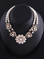 Lady Pearl Flowers Strand Necklace(hualuo jewelry)