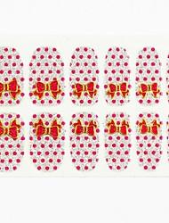12pcs copertura full size autoadesivi di arte falsa del chiodo decalcomanie consigli avvolge base di argento rosa bowknot per le decorazioni di arte