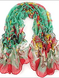 Blue Green  Bali Yarn Scarf Cotton Cape Spring And Autumn Long Design Autumn And Winter Women's Scarf