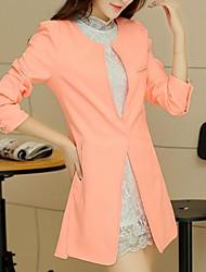 тонкий равнина женщин ол маленький костюм пальто