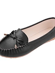 Women's Spring Summer Fall Comfort Leatherette Casual Flat Heel Crystal Black Pink White