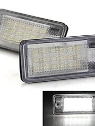 bulbos de lámparas del coche de matrícula par blanco 18 SMD LED luces 12v para el audi a3 a4 a6 8e rs4 rs6
