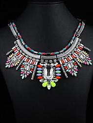 colar de pedras preciosas jóias jq das mulheres