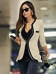 moda moda elegante manga larga r0077 traje de abrigo