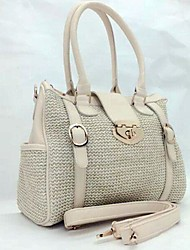 Vintage Stylish Beige Weave Tote/Shoulder Bag Lolita Handbag