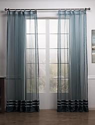Dois Painéis Tratamento janela Moderno Neoclassicismo Mediterrêneo Rococó Designer , Sólido Sala de Estar Poliéster MaterialSheer