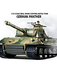 Heng Long 1/16 German Panther RC tanque de batalla con simulado Humo