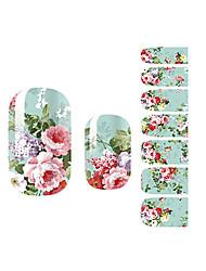 yemannvyou®14pcs rijkdom&eer pioen mode nail art sticker