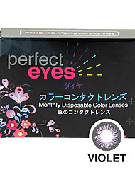 Perfect Eyes Color Monthly Violet (2 Lens /box)(Zero Degree)