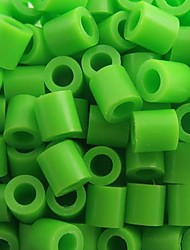 Approx 500PCS/Bag 5MM Lime Green Fuse Beads Hama Beads DIY Jigsaw EVA Material Safty for Kids Craft