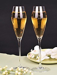 Personalized Toasting Flutes Elegant design sense - Set of 2